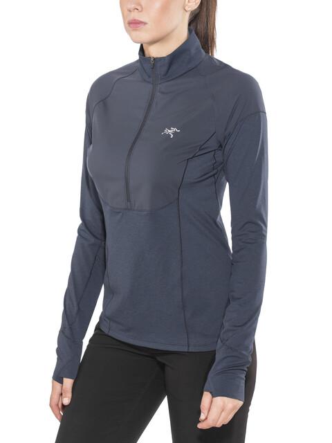 Arc'teryx Taema Zip Neck LS Shirt Women Midnight
